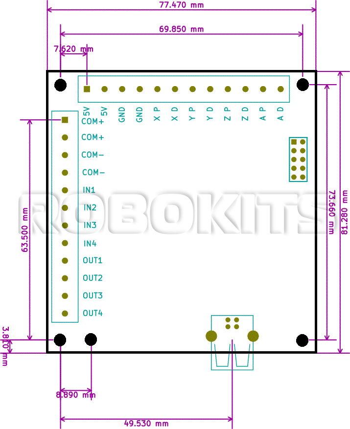 usb cnc controller mach3 4 axis 100khz interface board mk1. Black Bedroom Furniture Sets. Home Design Ideas