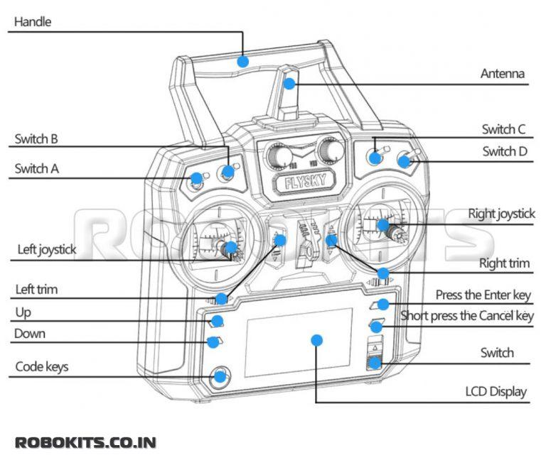 Flysky FS-i6 6ch 2 4ghz Transmitter with FS-iA6B PPM Receiver