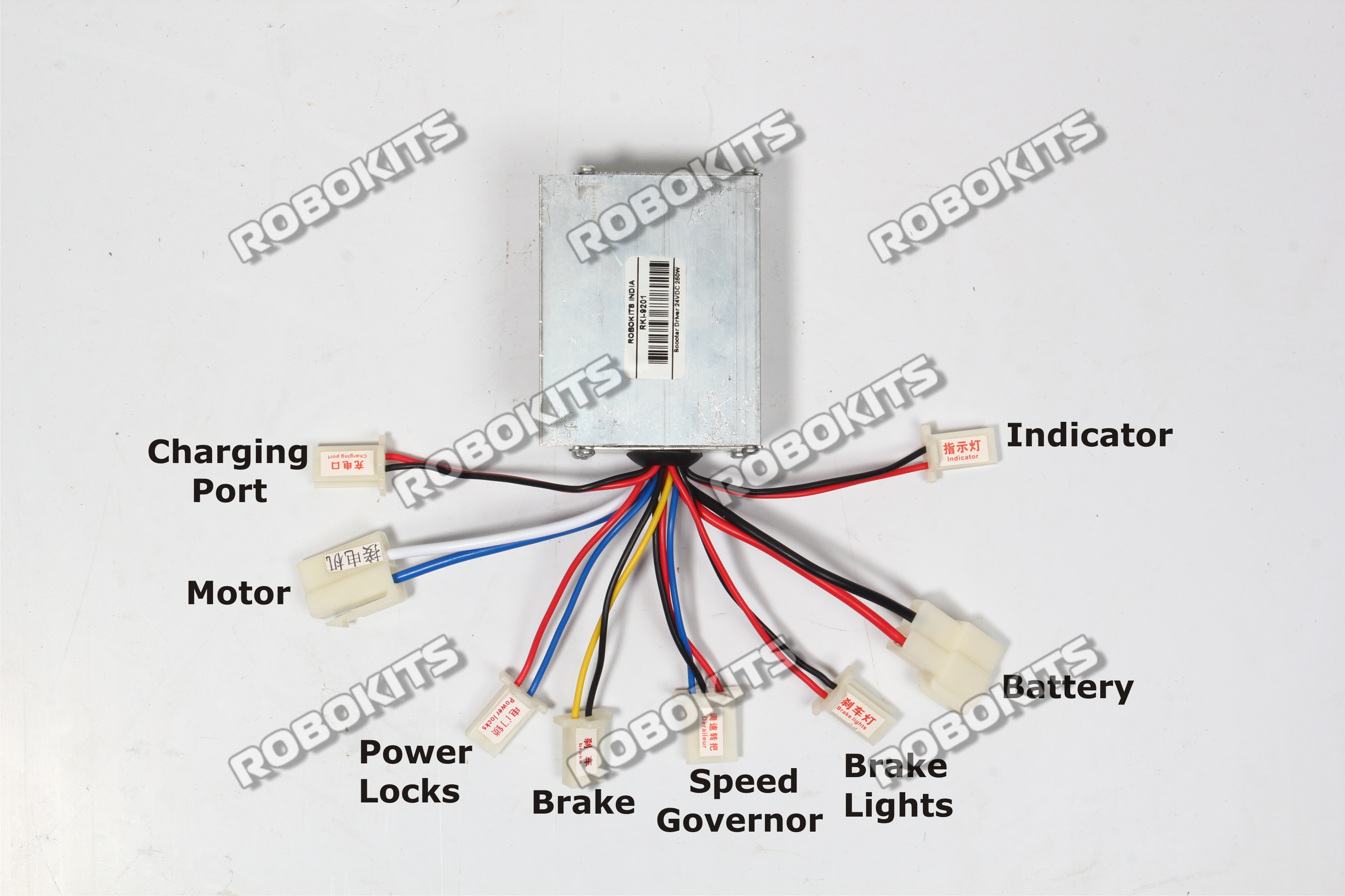 EBike Motor Electric Speed Controller 24V 250W  RKI9201      70000   Robokits India  Easy to