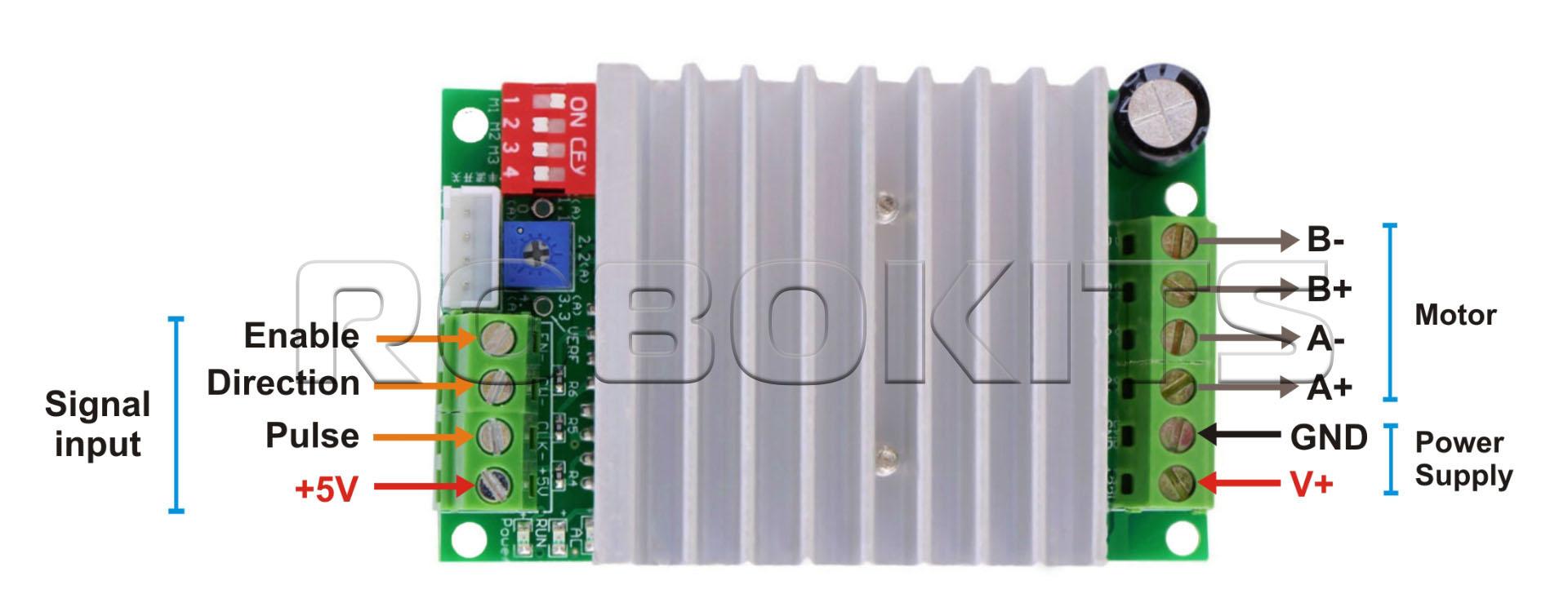 Tb6600 Stepper Driver 45a Rki 1108 575 Robokits India Easy Motor Circuit Drive Downloads Media Model