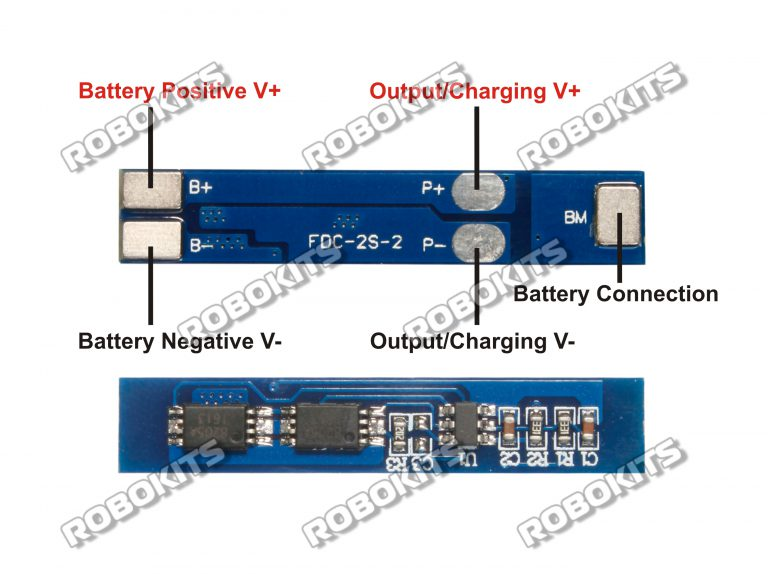Li-Ion 7 4V 2S Cell Charge/ Discharge Protection Circuit