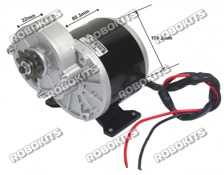 E bike dc geared motor 24v 300rpm 350w with controller for 24v dc motor driver