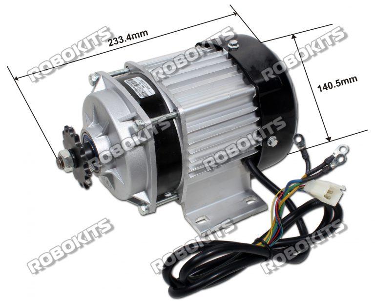 E bike brushless dc geared motor 48v 450rpm 500w rki 9004 for Gear motor 500 rpm