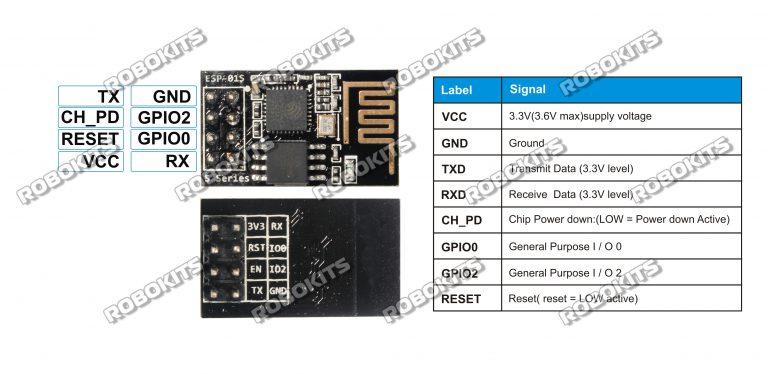 ESP8266 WiFi Serial module ESP-01 for IOT Applications